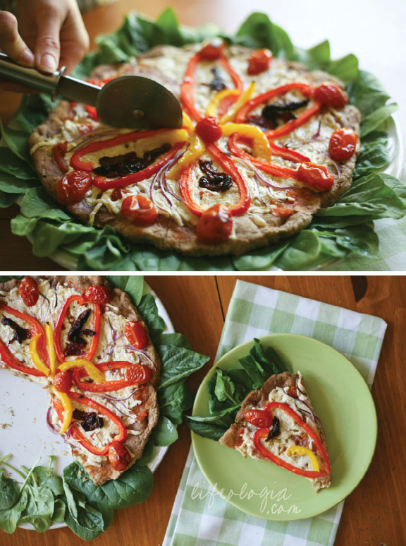 Flower Pizza Healthy And Easy Recipe From Scratch Pure Ella