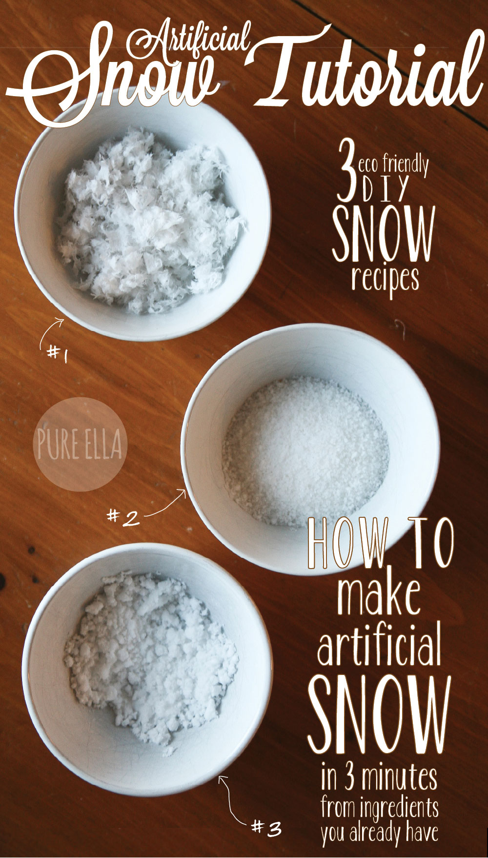 how to make artificial snow 3 quick easy eco friendly