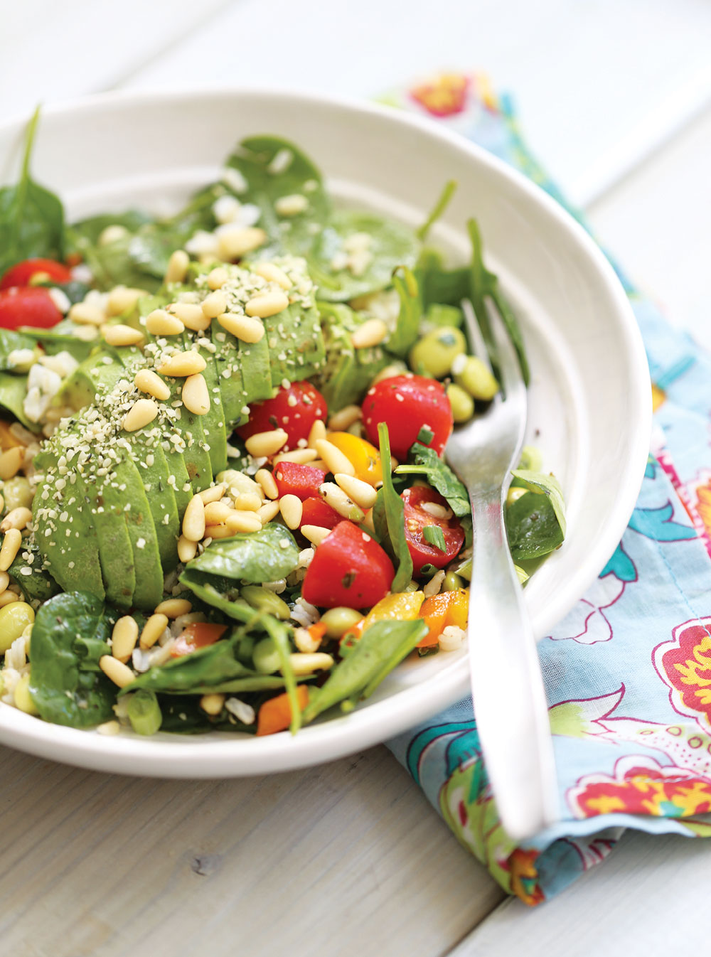 Ella-Leche-Pure-Ella-AVOCADO-Spinach-Salad-4