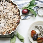Gluten free Crumble Pie Recipe with Plums