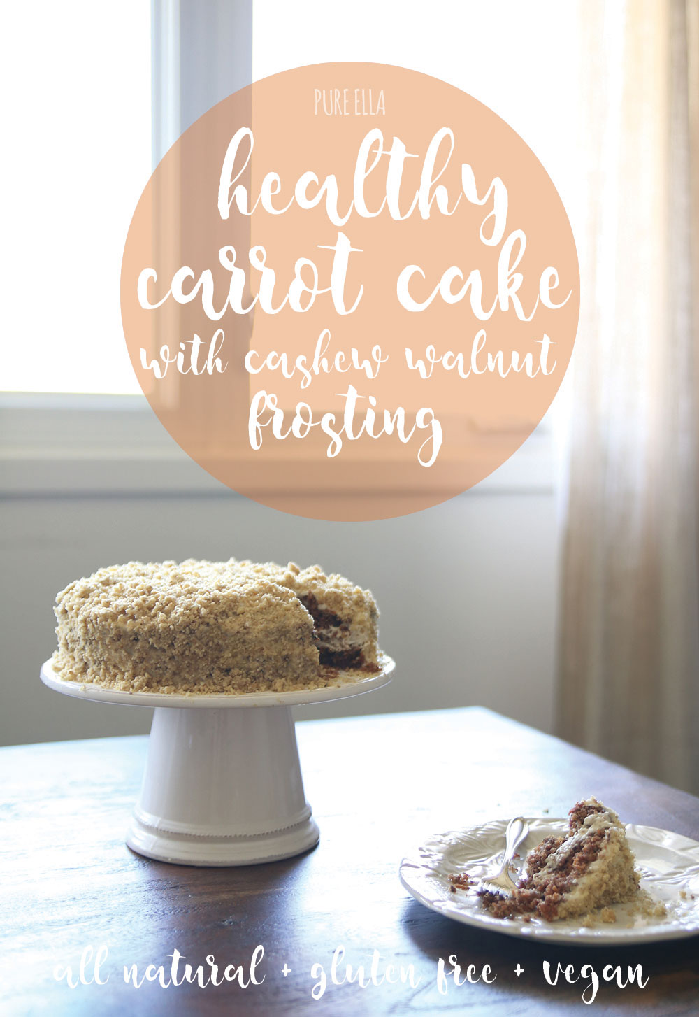 Healthy Carrot Cake With Cashew Walnut Frosting