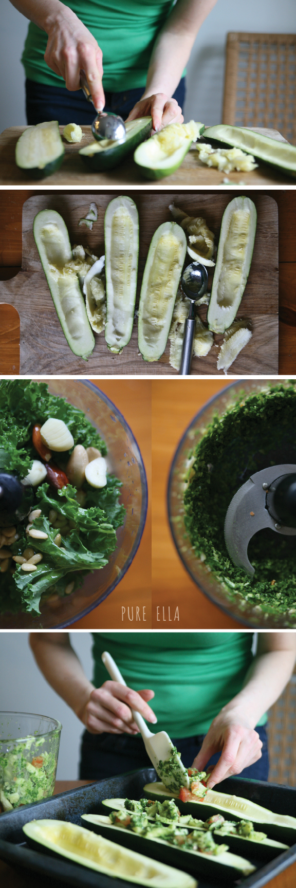 Pesto Stuffed Zucchini Recipe — Dishmaps