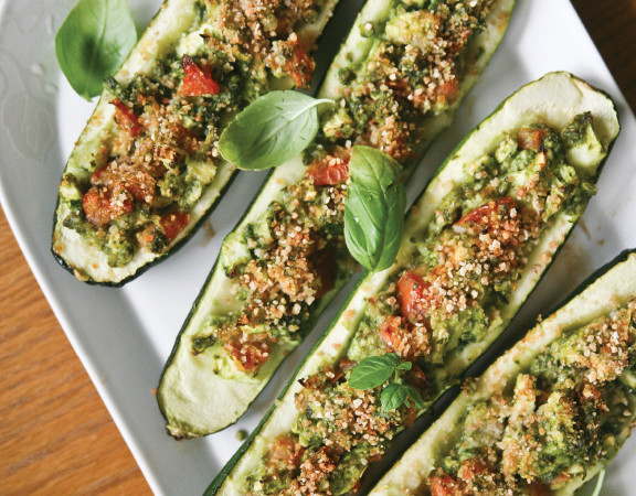 Kale-Pesto-Baked-Zucchini-3 vegan gluten-free photo recipe