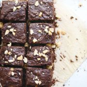 Peanut Butter Vegan Brownies