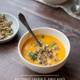 Butternut Squash Apple Purée with Savory Granola