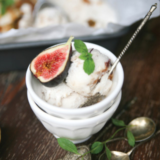 Caramelized Fig & Honey Coconut Ice Cream
