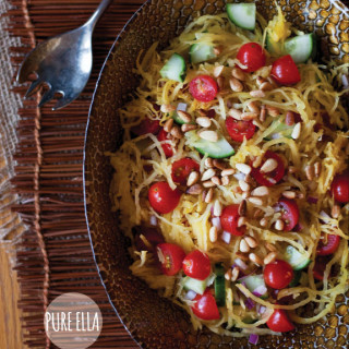 Spaghetti Squash with Toasted Pine Nuts