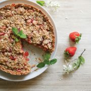 Strawberry & Rhubarb Gluten-free Crumble Pie