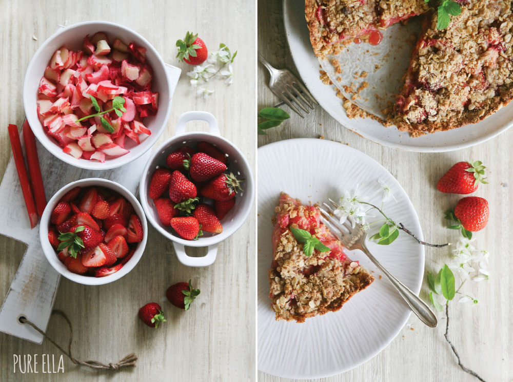 Strawberry Rhubarb & Cream Tart Estonia Recipe — Dishmaps