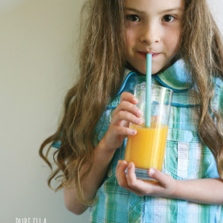 Apricot + Mango Multivitamin Smoothie with Kids Calm from Natural Vitality