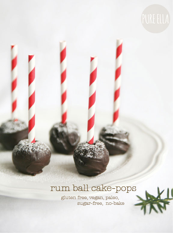 No-Bake Rum Ball Cake Pops - Pure Ella