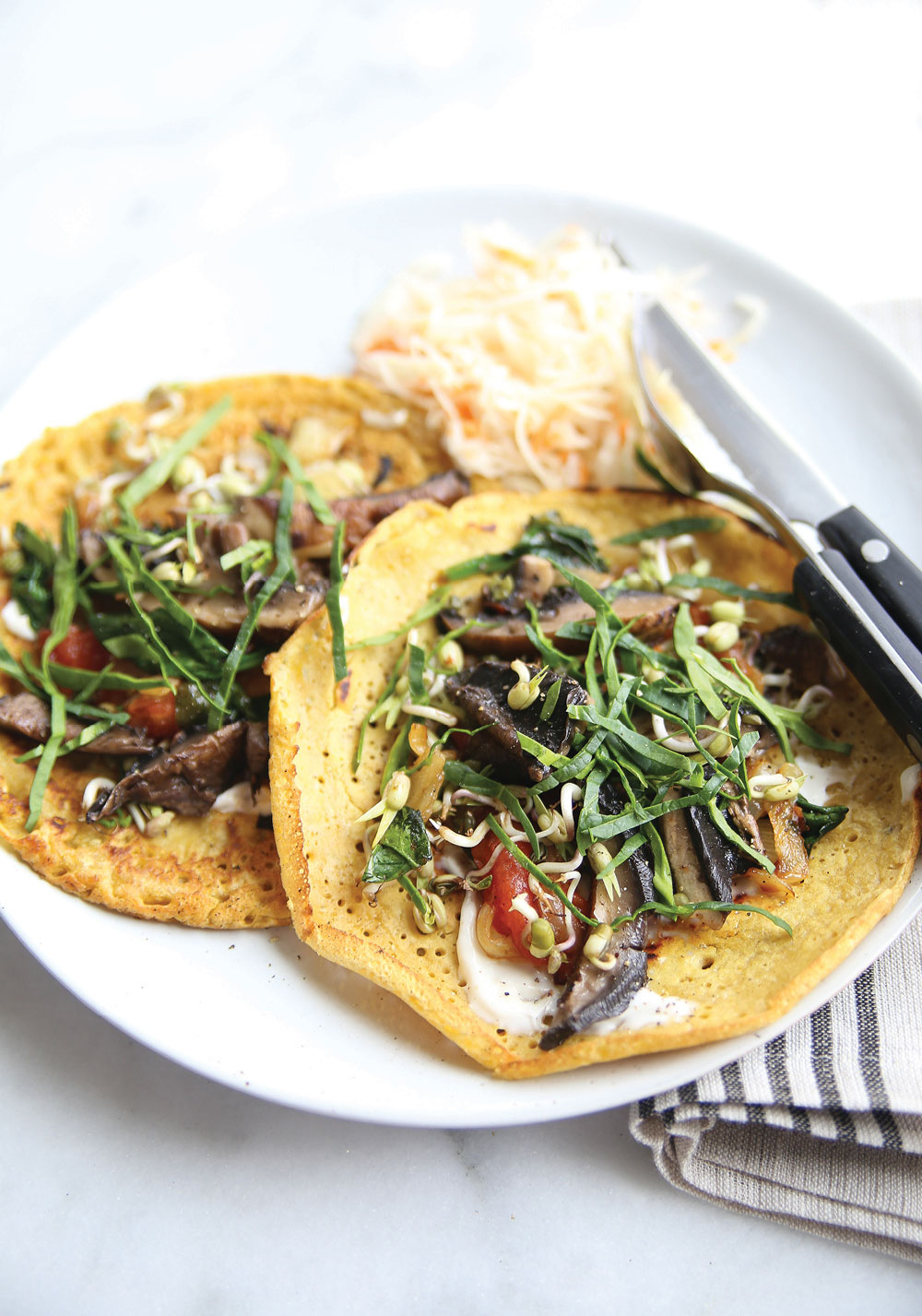 Chickpea Crepes (Socca) Recipe — Dishmaps