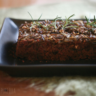 Wild Rice No-Meat Loaf : gluten-free, grain-fee, vegan