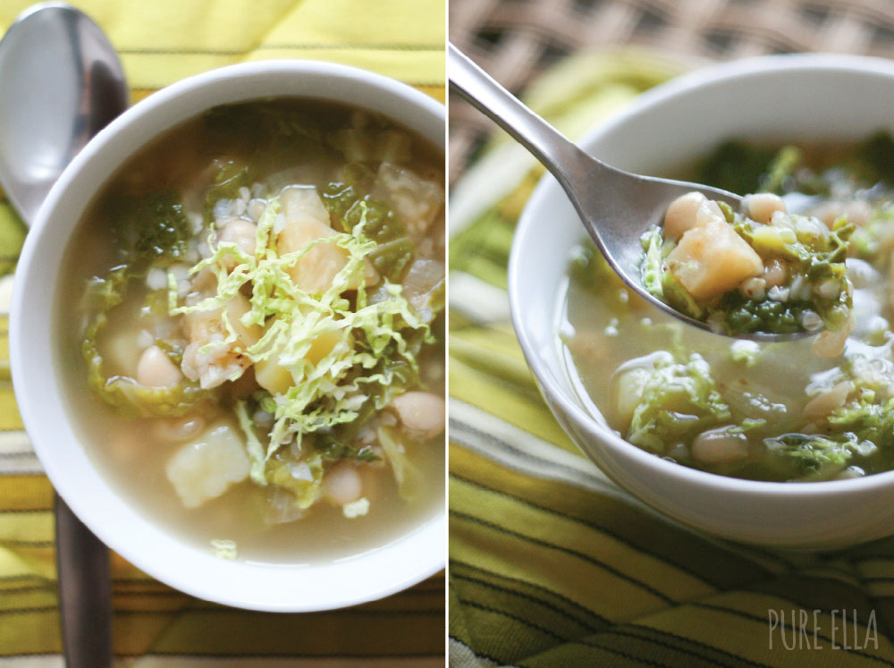 potato, parsnip, and cabbage soup
