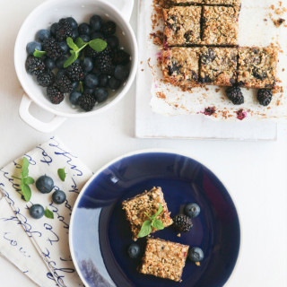 Blueberry & Blackberry Crumb Squares