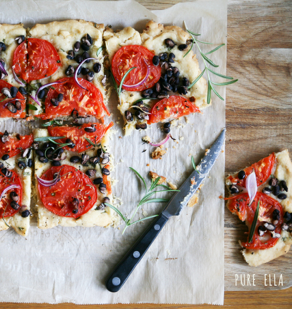 Tomato & Black Bean Tart : gluten free and vegan - Pure Ella