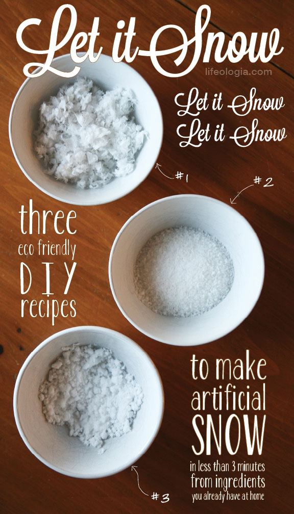 Lifeologia artificial snow tutorial diy pure ella for How to make winter crafts