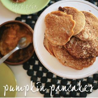 Gluten Free Vegan Pumpkin Purée Pancakes
