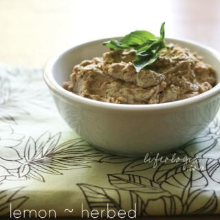 quick & easy : lemon herbed lentil hummus