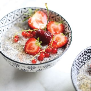 Probiotic Chia Pudding with Summer Fruit