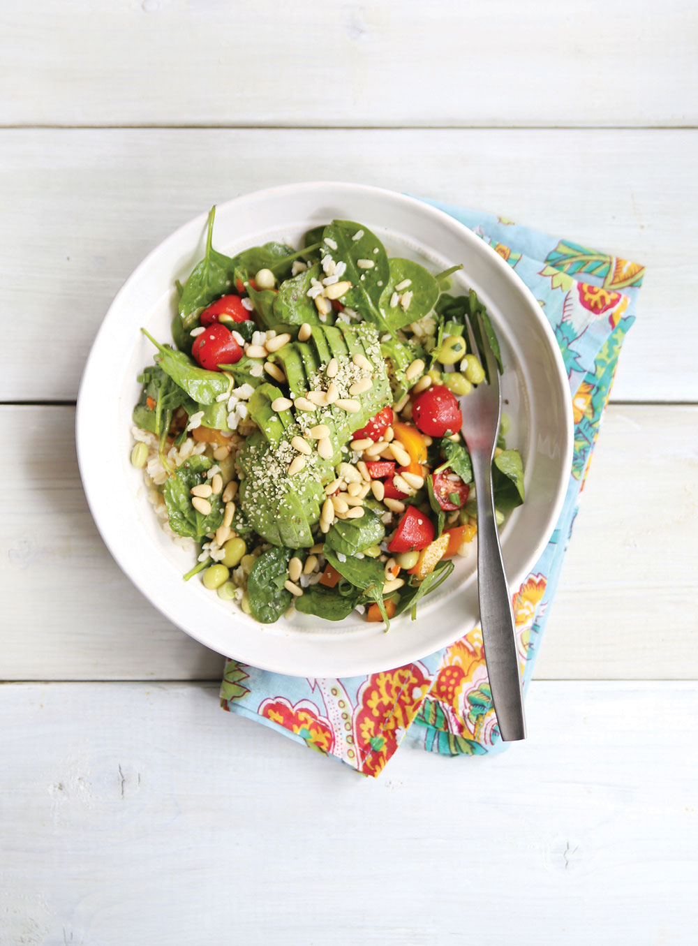 Ella-Leche-Pure-Ella-AVOCADO-Spinach-Salad-2