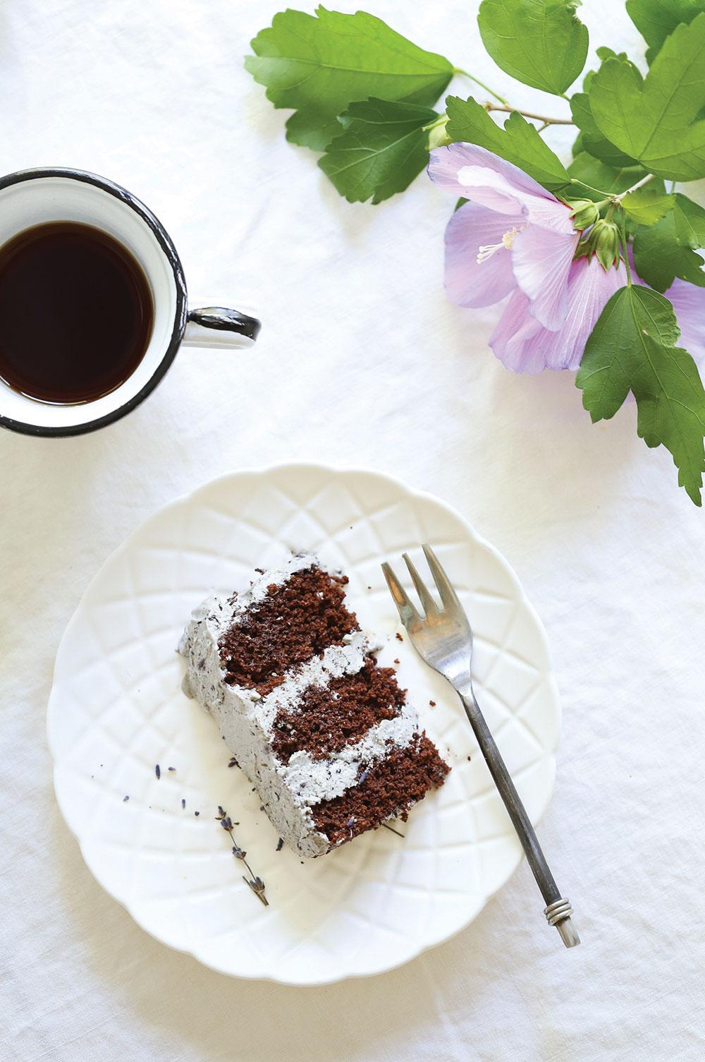 Gluten-Free-Vegan-Chocolate-Lavender-Cake