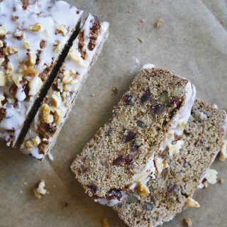 Holiday Chai Cranberry Nut Loaf Cake