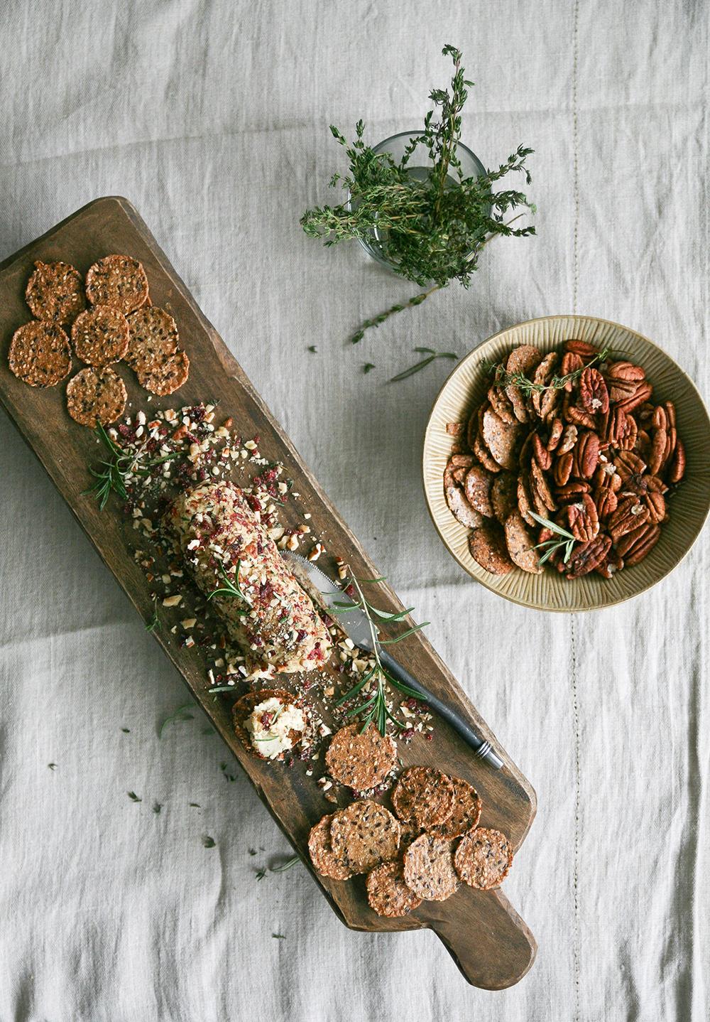 IMG_0692Cranberry Rosemary Vegan Nut Cheese Log8