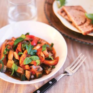 Roasted-Vegetable Ratatouille from Meatless Cookbook