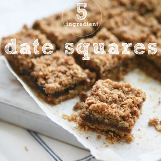 5 Ingredient Gluten-free Healthy Date Squares