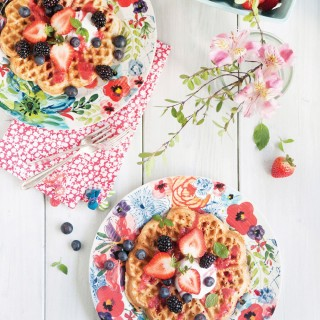 Healthy Chia Waffles Recipe from the Cut the Sugar Cookbook