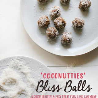 Coconutties Bliss Balls : healthy quick & easy treat even a kid can make
