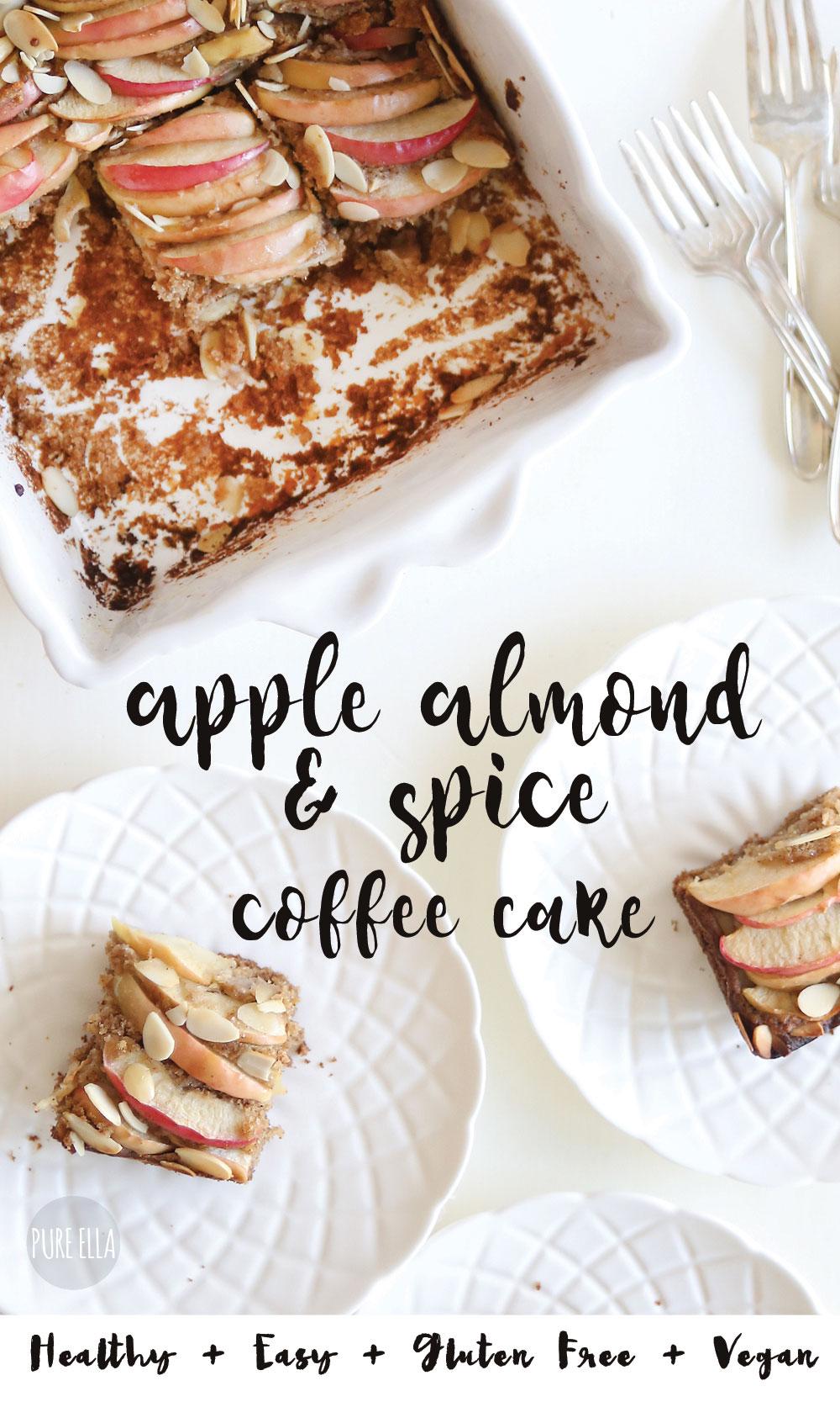 Apple Almond Spice Vegan Coffee Cake Pure Ella