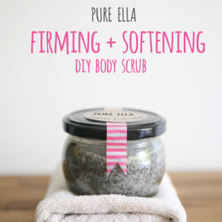 Pure Beauty : firming and softening DIY body scrub
