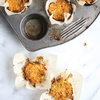 Savoury Healthy Breakfast Muffins with Shredded Veggies