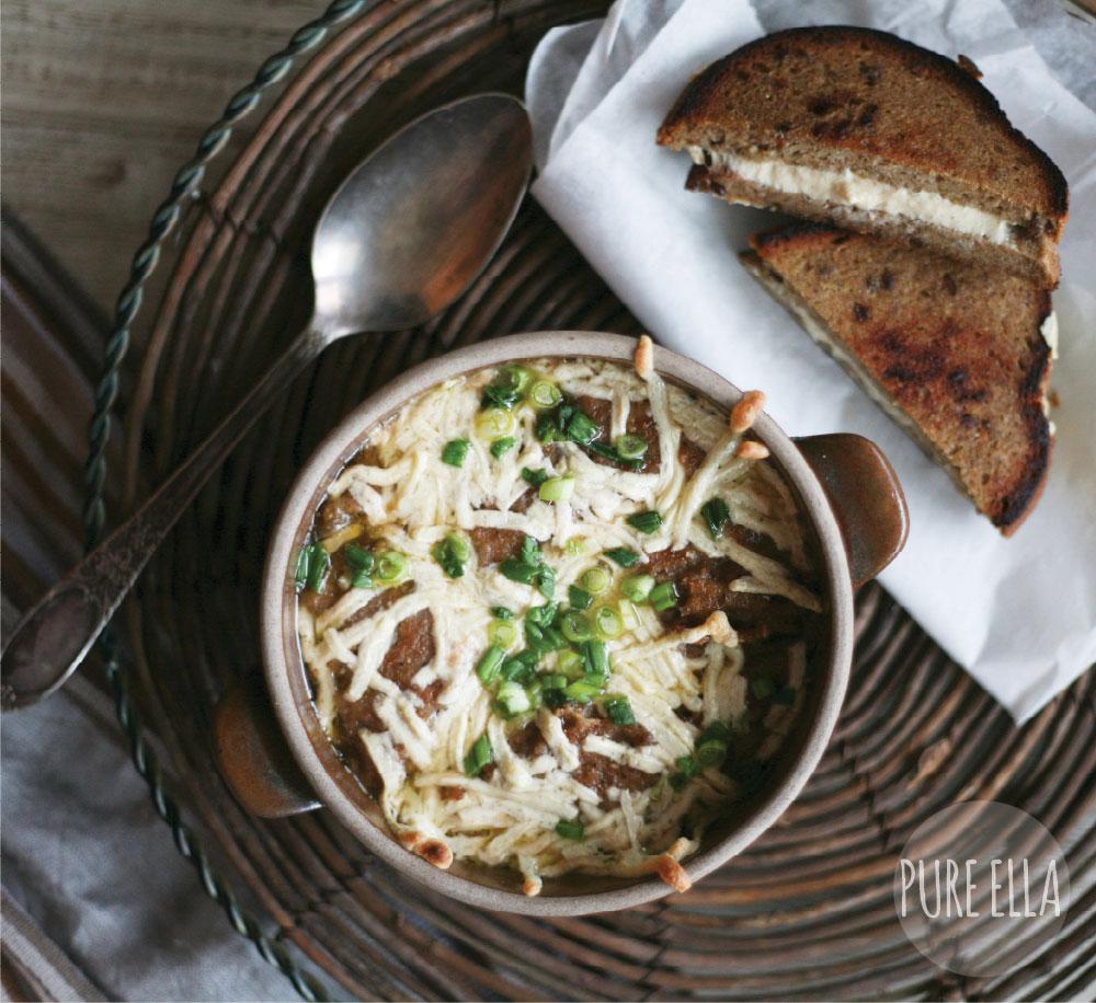 French Onion Soup Healthy Vegan Gluten Free Recipe Pure Ella