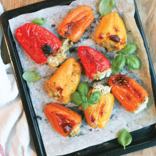 Herbed Tofu Stuffed Peppers : vegan & gluten free