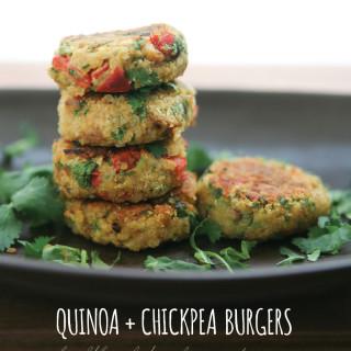 Quinoa + Chickpea Burgers