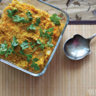 Gluten-free and vegan Lentil, Carrot and Celery Root Casserole