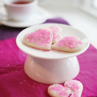Heart Shaped Sugar Cookies : gluten-free and vegan