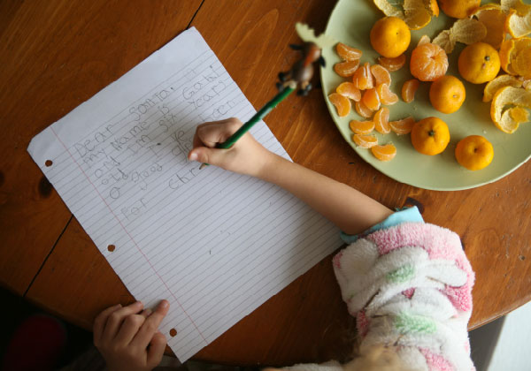 Pure-Ella-happiness-is-writing-letter-to-santa