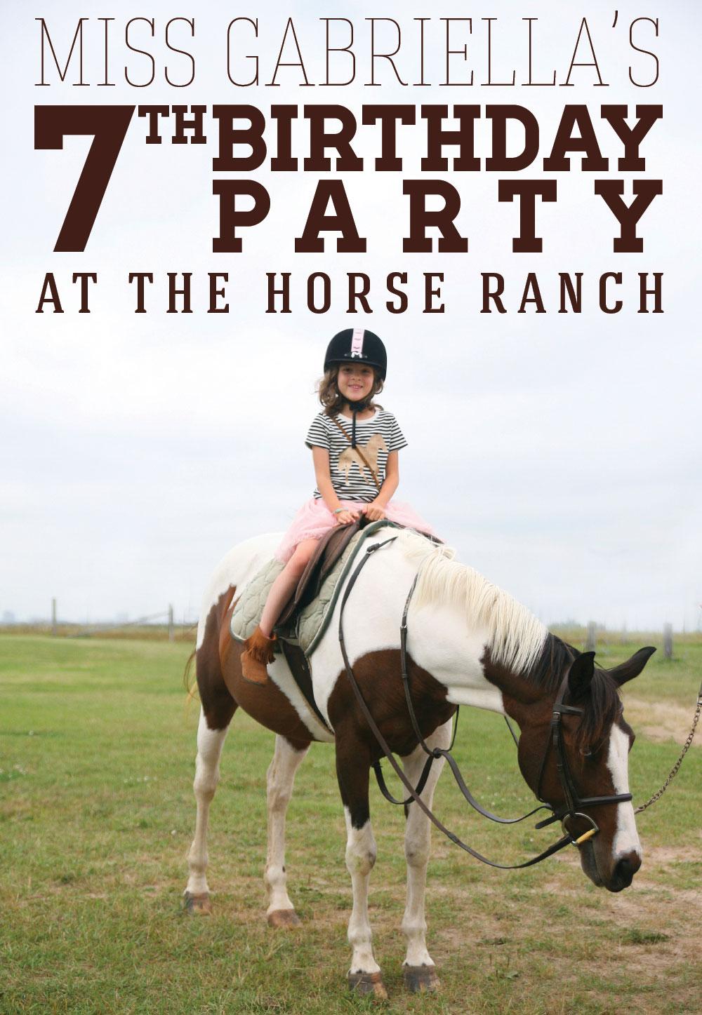 Horse Ranch Birthday Party
