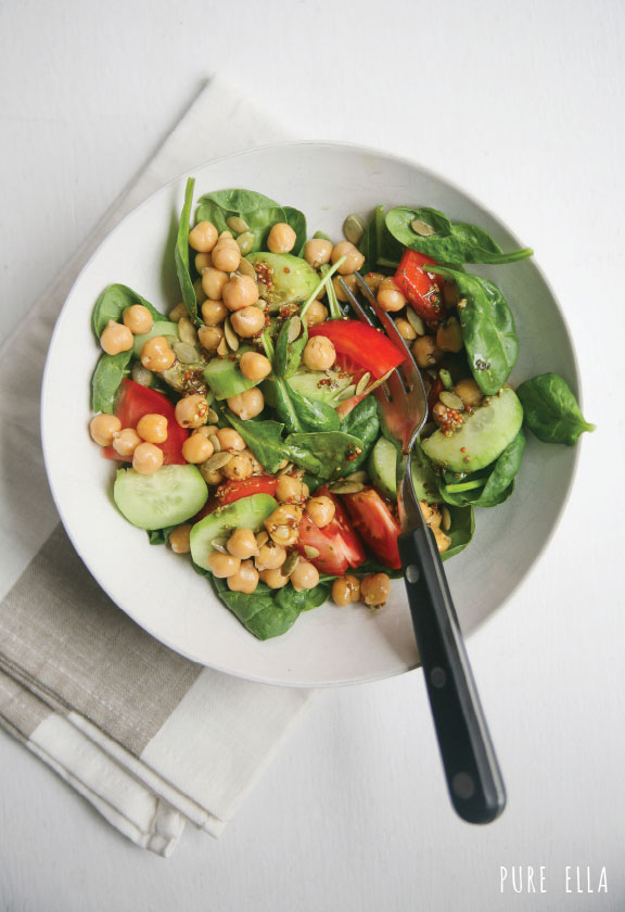 Pure-Ella_-Ella-Leche-baby-spinach-and-chicpeas-with-zesty-grey-poupon-pumpkin-oil-dressing3