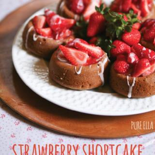 Strawberry Shortcakes : gluten-free and vegan