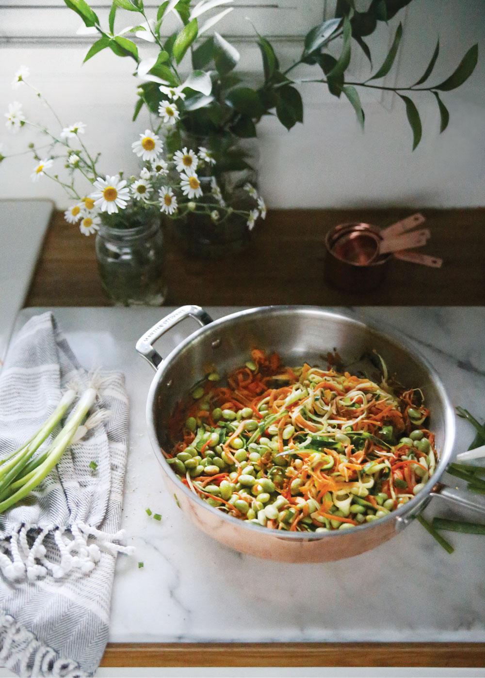 Sweet-Potato-Zoodle-Stir-Fry-Pure-Ella-Leche-Martha-Stewart-Tri-Ply-Copper-10-Pc.-Cookware-Set