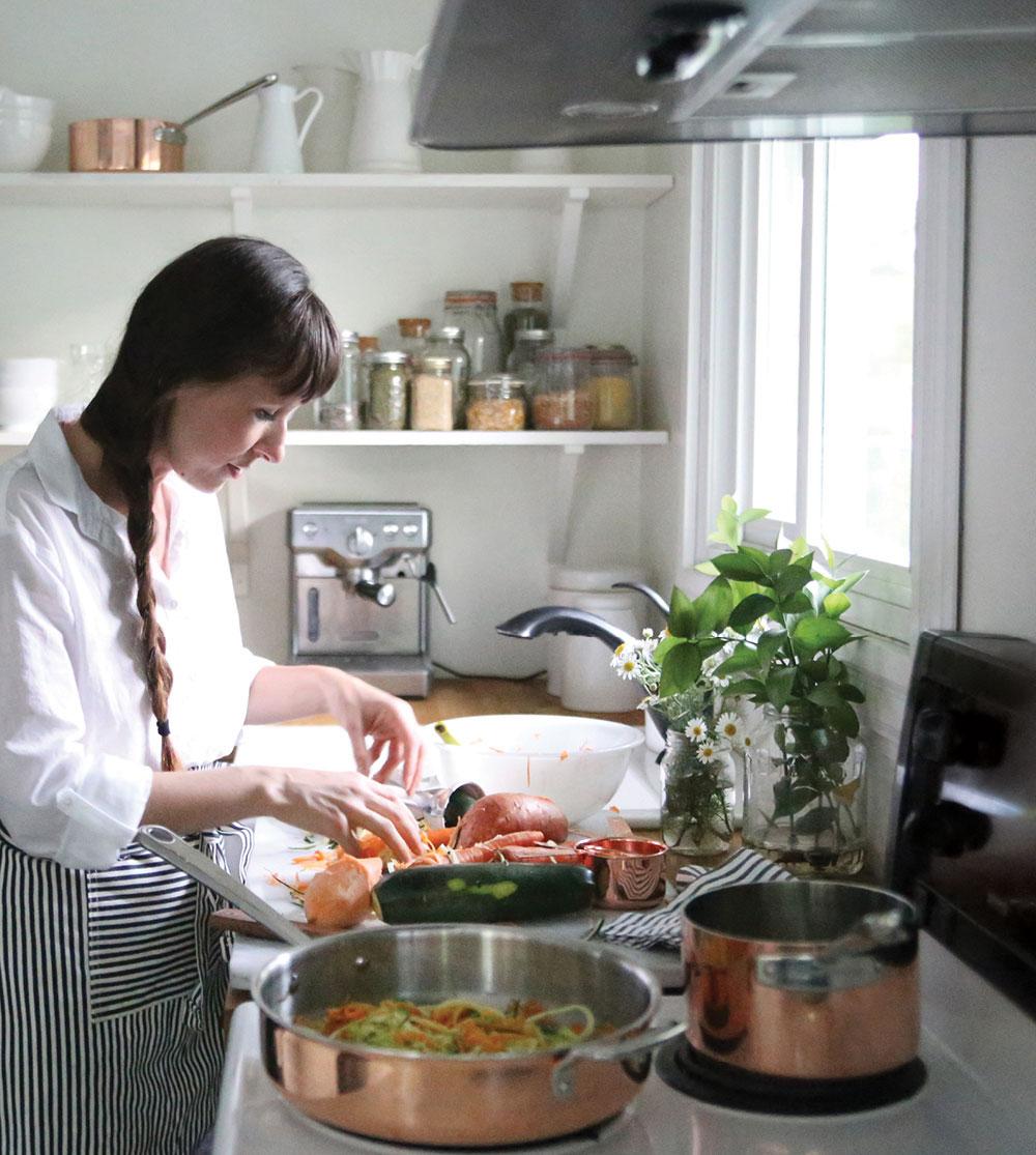 Sweet-Potato-Zoodle-Stir-Fry-Pure-Ella-Leche-Martha-Stewart-Tri-Ply-Copper-10-Pc.-Cookware-Set5