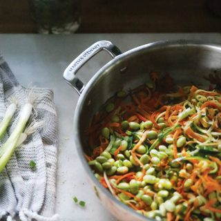 Sweet Potato Zoodles Stir Fry