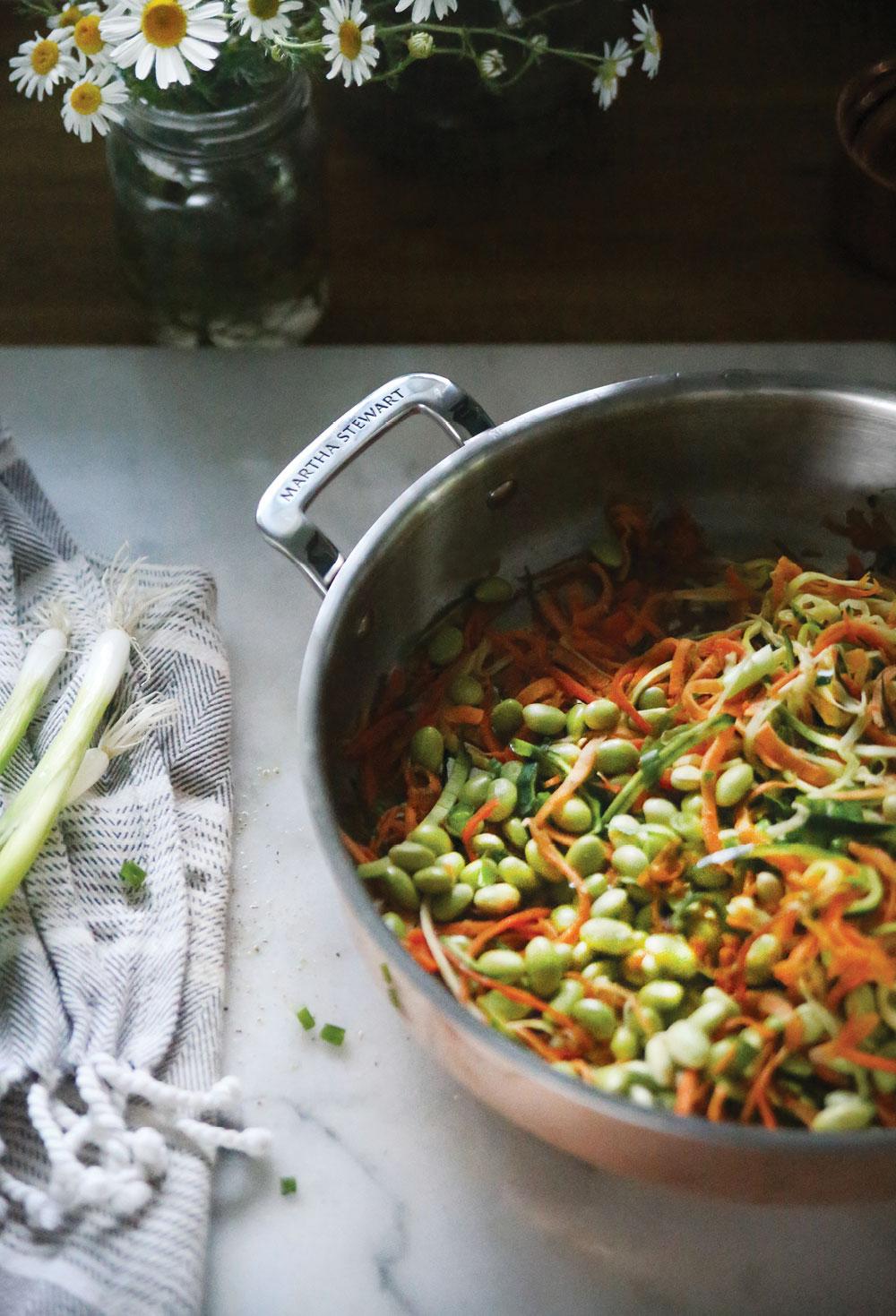 Sweet-Potato-Zoodle-Stir-Fry-Pure-Ella-Leche-Martha-Stewart-Tri-Ply-Copper-10-Pc.-Cookware-Set7