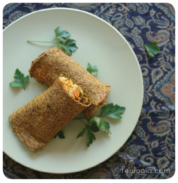 Indian spiced raw flatbread wraps with chickpea filling pure ella filling forumfinder Choice Image